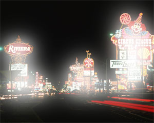 Night vision loss Vegas scene