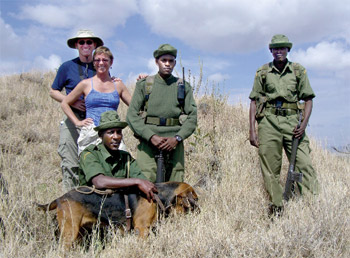 Tracking Rhino poachers in Lewa
